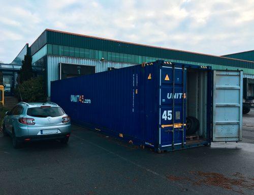 Der erste Container
