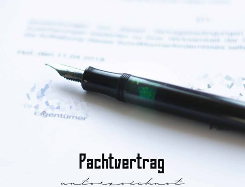 Unterzeichnung des Pachtvertrags