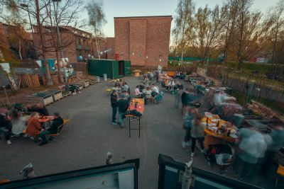 Urbaner Treffpunkt in Hof