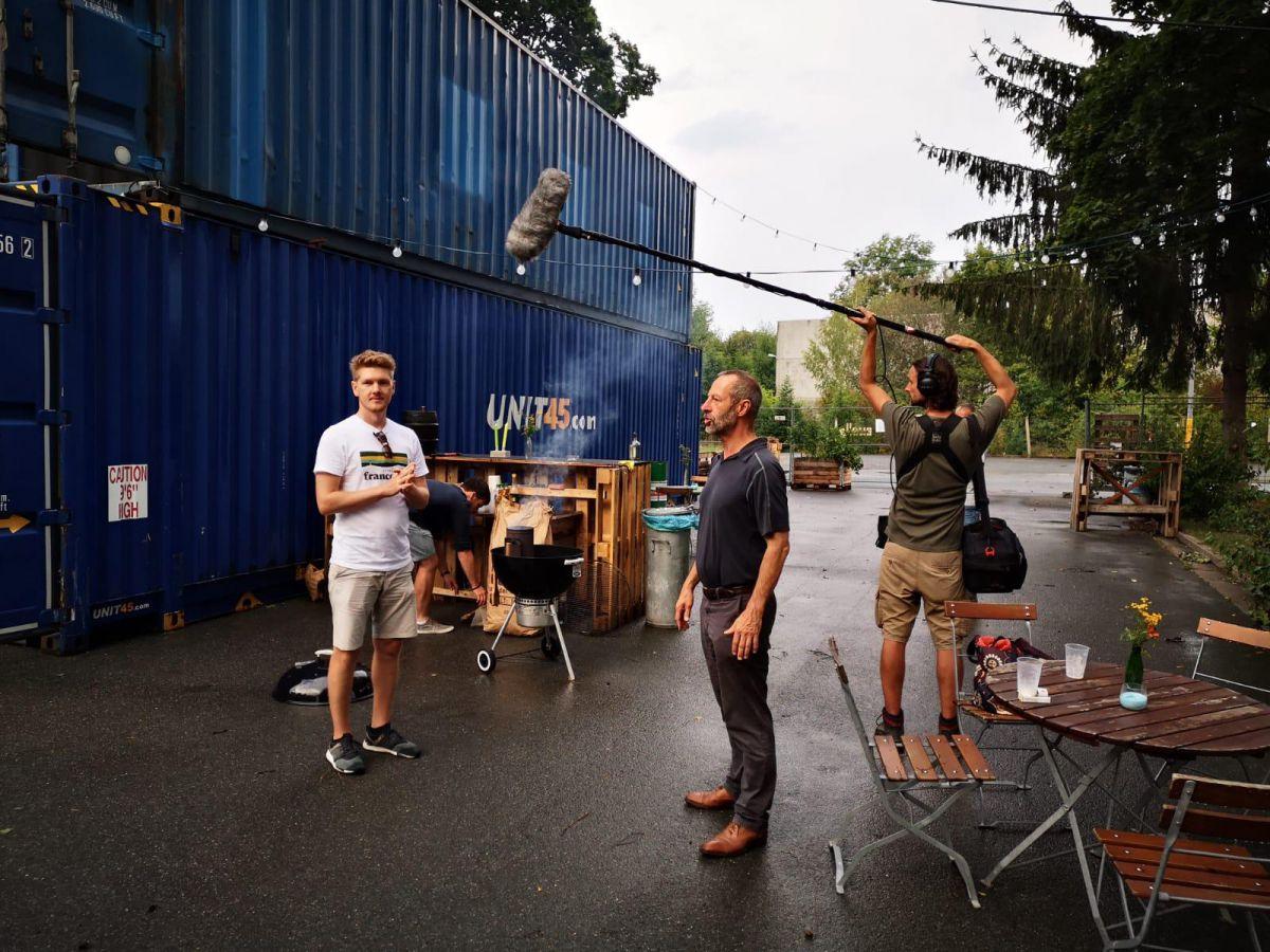 Dreharbeiten mit dem Bayerischen Rundfunk